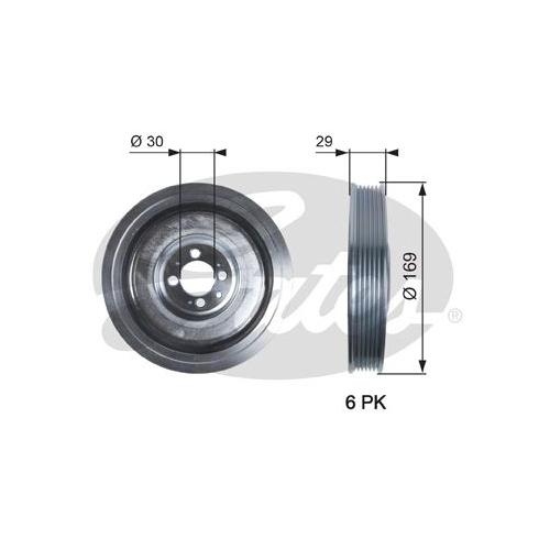 Riemenscheibe, Kurbelwelle GATES TVD1074 DriveAlign® FIAT