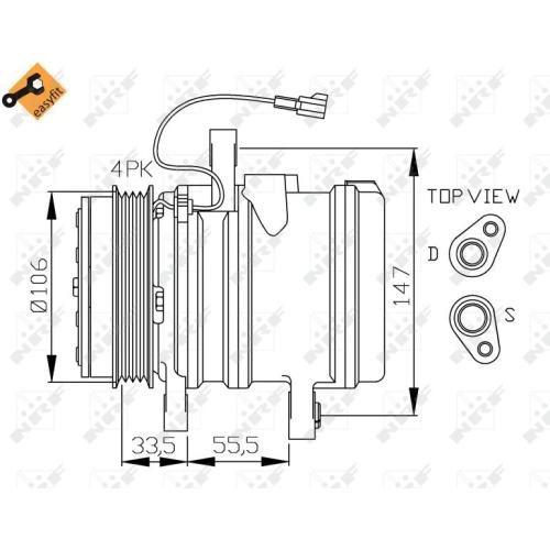 1 Kompressor, Klimaanlage NRF 32436 EASY FIT CHEVROLET DAEWOO