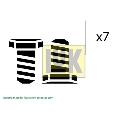 1 Schraubensatz Schwungrad Luk 411 0186 10 für Iveco