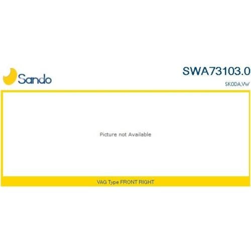 Wischarm Scheibenreinigung Sando SWA73103.0 für Vag Vorne