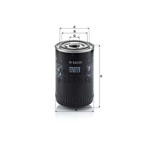 Ölfilter Mann-filter W 940/29 für Porsche General Motors