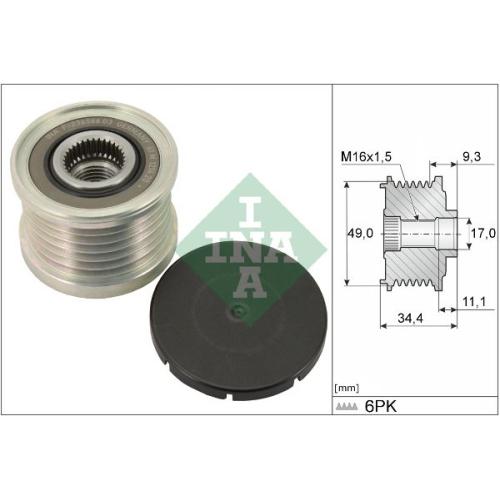 Generatorfreilauf Ina 535 0075 10 für Bmw Mini