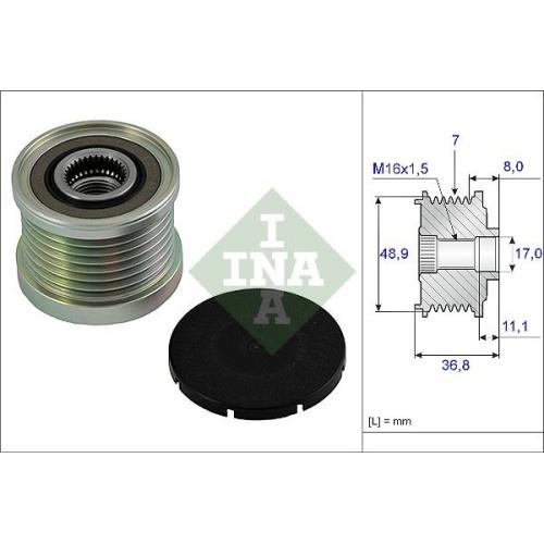 1 Generatorfreilauf INA 535 0081 10 für MERCEDES-BENZ NISSAN OPEL RENAULT SMART