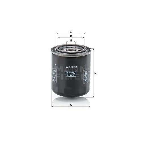Hydraulikfilter Automatikgetriebe Mann-filter W 9023/1 für Scania