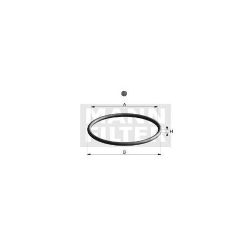 1 Dichtung Ölfilter Mann-filter DI 007-00 für Bmw