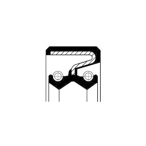 Wellendichtring Verteilergetriebe Corteco 19027897B für Nissan Eingang