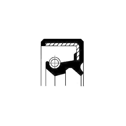 Wellendichtring Verteilergetriebe Corteco 19027902B für Nissan Ausgang Vorne