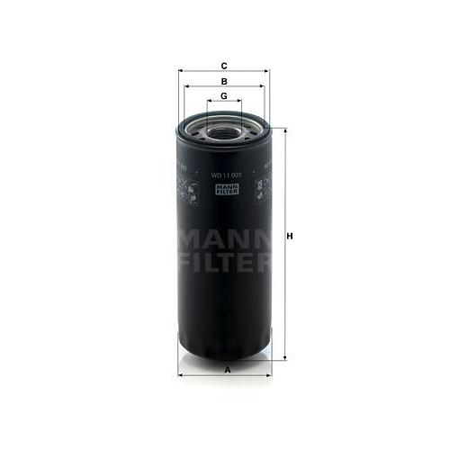 Filter Arbeitshydraulik Mann-filter WD 11 003 für Massey Ferguson Same Claas