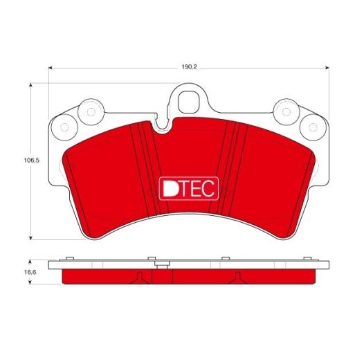 4 Bremsbelagsatz, Scheibenbremse TRW GDB1548DTE DTEC COTEC AUDI PORSCHE SEAT VW