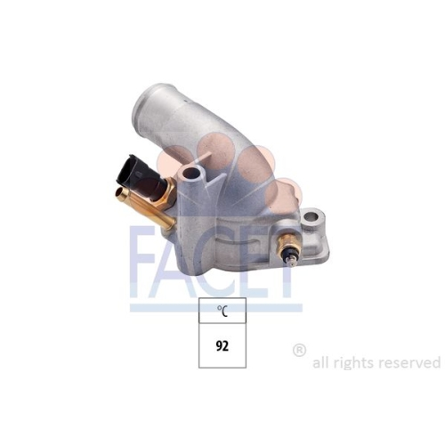 Termostato Refrigerante Facet 7.8288 Made In Italy - Oe Equivalent per Vauxhall
