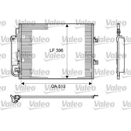 Kondensator Klimaanlage Valeo 814061 für Renault
