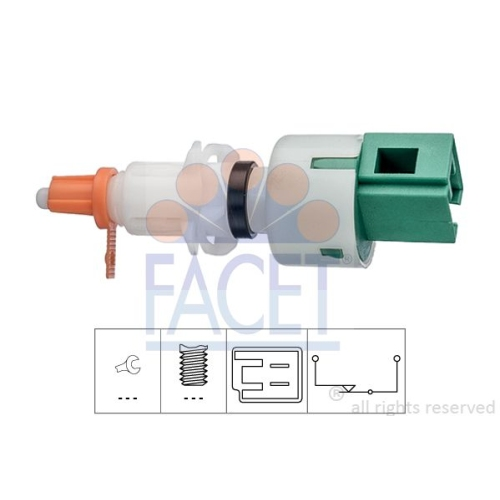 1 Schalter, Kupplungsbetätigung (GRA) FACET 7.1249 Made in Italy - OE Equivalent