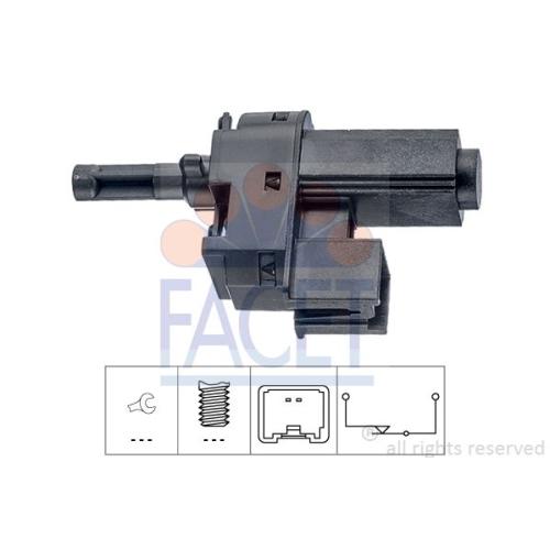 1 Schalter, Kupplungsbetätigung (GRA) FACET 7.1221 Made in Italy - OE Equivalent