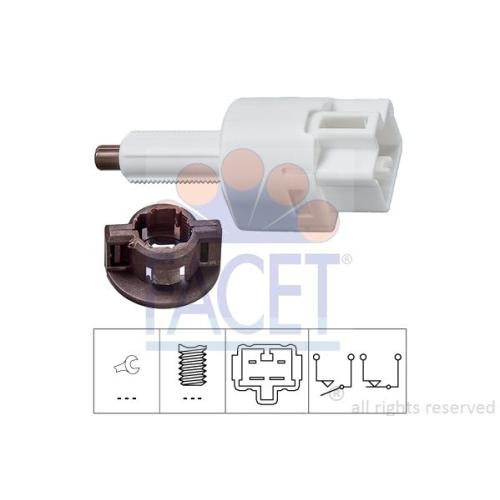 Bremslichtschalter Facet 7.1212 Made In Italy - Oe Equivalent für Fiat Subaru