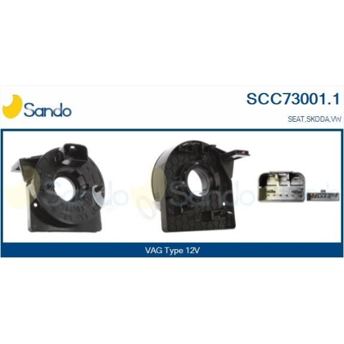 Wickelfeder Airbag Sando SCC73001.1 für Vag Für Fahrzeuge Mit Obd