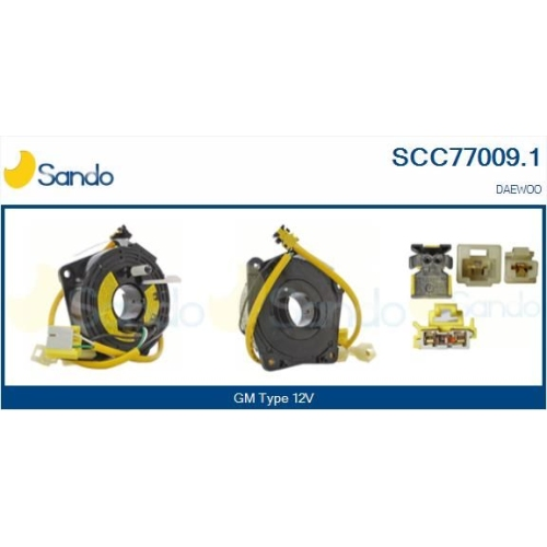 Wickelfeder Airbag Sando SCC77009.1 für General Motors Für Fahrzeuge Mit Obd