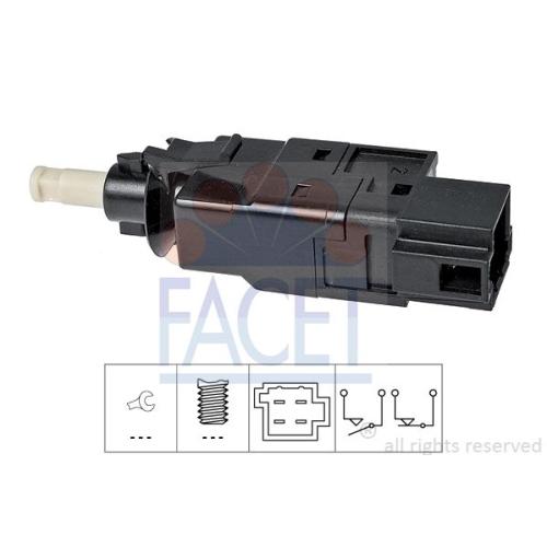 1 Bremslichtschalter FACET 7.1260 Made in Italy - OE Equivalent für