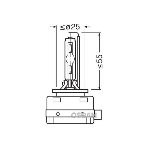 Glühlampe Fernscheinwerfer Osram 66140CLC Xenarc Classic für