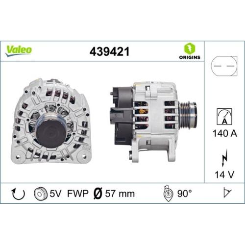 Generator Valeo 439421 Valeo Origins New für Audi Skoda VW
