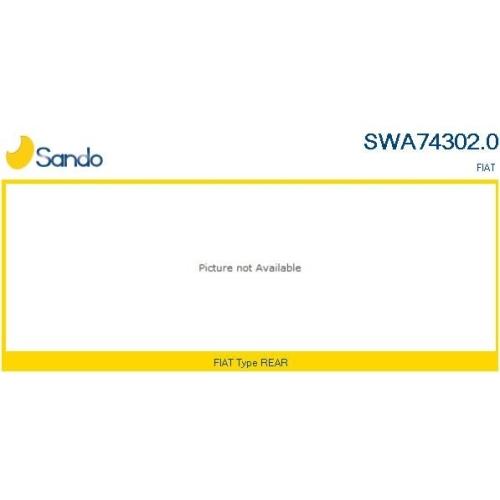 Wischarm Scheibenreinigung Sando SWA74302.0 für Fiat Hinten
