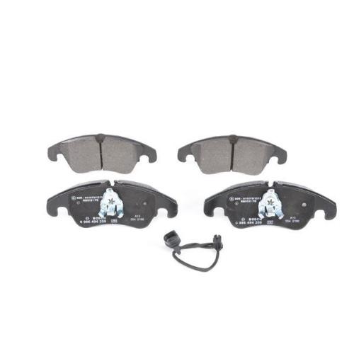 4 Bremsbelagsatz, Scheibenbremse BOSCH 0986494259 für AUDI FORD VW, Vorderachse
