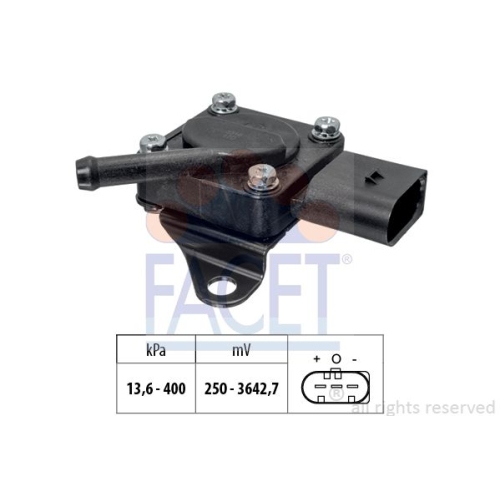 Sensor Abgasdruck Facet 10.3319 Made In Italy - Oe Equivalent für Bmw