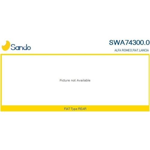 Wischarm Scheibenreinigung Sando SWA74300.0 für Fiat Hinten