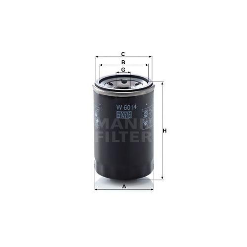 1 Ölfilter MANN-FILTER W 6014 FIAT