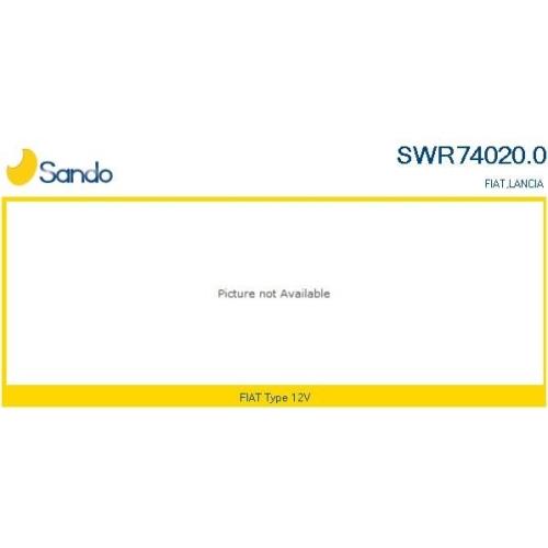 1 Schalter, Fensterheber SANDO SWR74020.0 für FIAT CITROËN/PEUGEOT, fahrerseitig