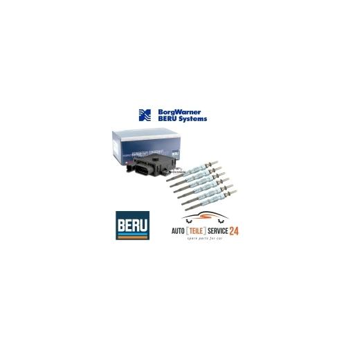 6x BERU GLÜHKERZEN+STEUERGERÄT GLÜHZEIT BMW 3er E46 E90 E91 5er E60 E61 E83 E70