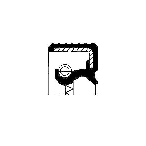 Wellendichtring Differential Corteco 01018330B für Saab Ausgang Innen Links