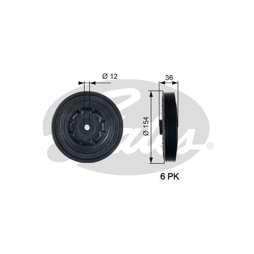 Riemenscheibe, Kurbelwelle GATES TVD1128 DriveAlign®