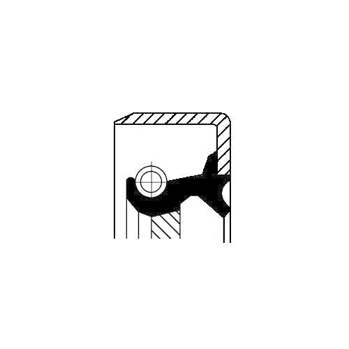Wellendichtring Differential Corteco 19034732B für Toyota Ausgang Hinterachse