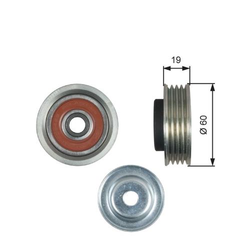 Spannrolle Keilrippenriemen Gates T39181 Drivealign® für Fiat Suzuki