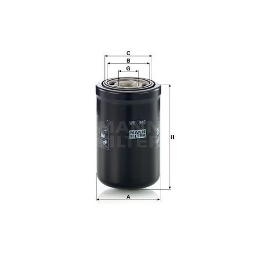 Filter Arbeitshydraulik Mann-filter WH 945 für Volvo Case Ih Hitachi Jcb Hyster