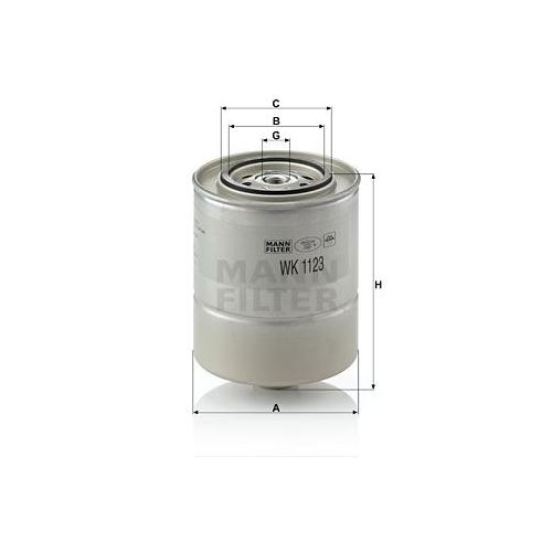 Kraftstofffilter Mann-filter WK 1123 für Bmw