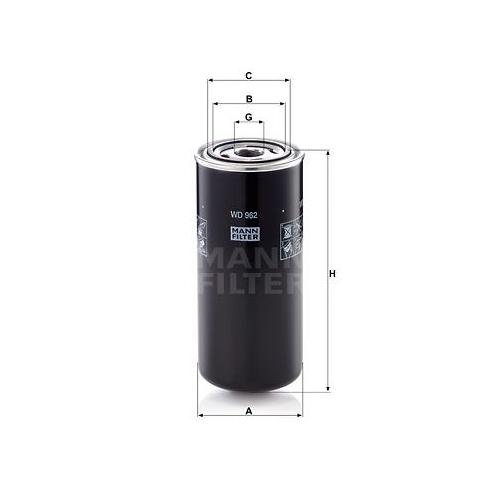 1 Filter, Arbeitshydraulik MANN-FILTER WD 962 für HANOMAG HENSCHEL VOLVO FAUN