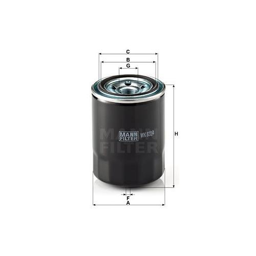 1 Kraftstofffilter MANN-FILTER WK 822/4 für KIA