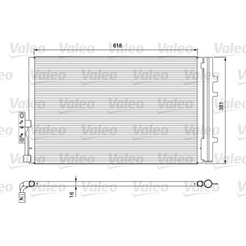 Kondensator, Klimaanlage VALEO 814386 BMW, für Fahrzeuge mit Klimaautomatik