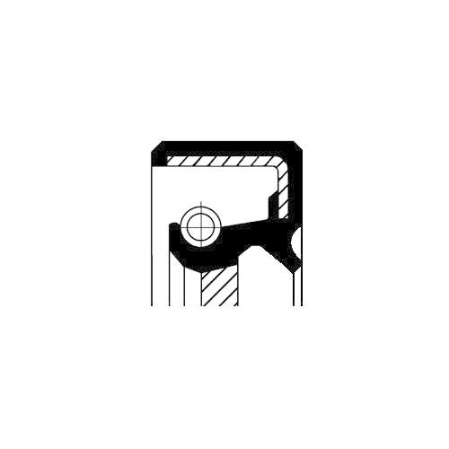 Wellendichtring Differential Corteco 19035124B für Suzuki Toyota Ausgang Rechts