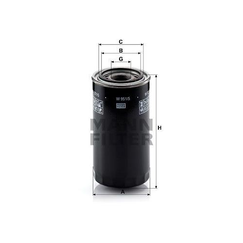 1 Filter, Arbeitshydraulik MANN-FILTER W 951/5 für STEYR CASE IH