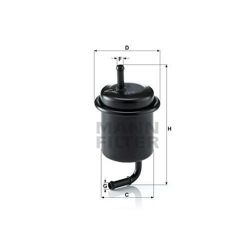 Kraftstofffilter Mann-filter WK 614/47 für Suzuki