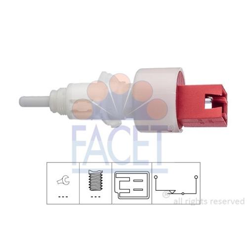 Schalter Kupplungsbetätigung (gra) Facet 7.1248 Made In Italy - Oe Equivalent