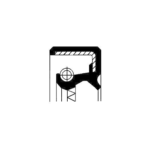 Wellendichtring, Differential CORTECO 19037037B für MG ROVER, Ausgang