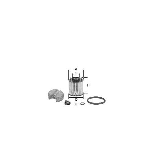 1 Harnstofffilter MANN-FILTER U 620/4 X KIT für