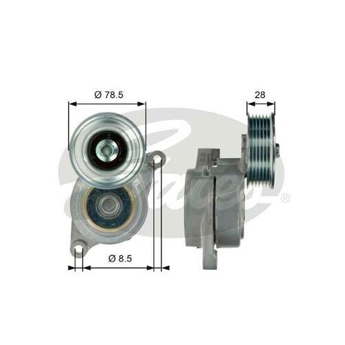 Riemenspanner, Keilrippenriemen GATES T39103 DriveAlign® MAZDA