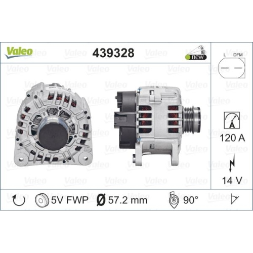 Generator Valeo 439328 Valeo Origins New für Audi Seat Skoda VW