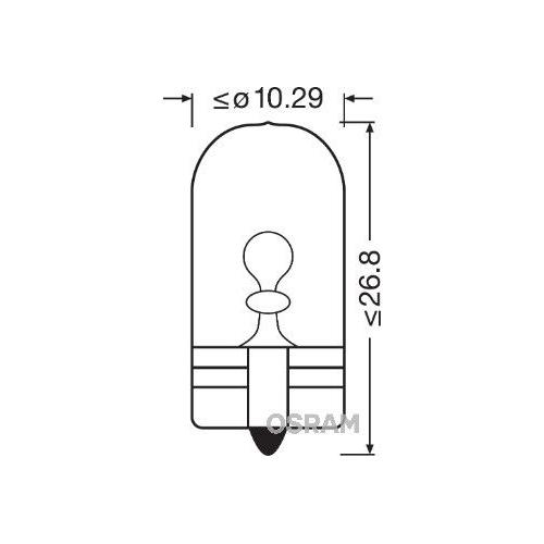 Glühlampe Blinkleuchte Osram 2845 Original für Fahrerhaus Oben Seitlichereinbau