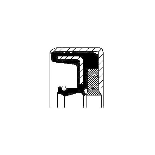 Wellendichtring, Differential CORTECO 12014618B für IVECO, Vorderachse, außen