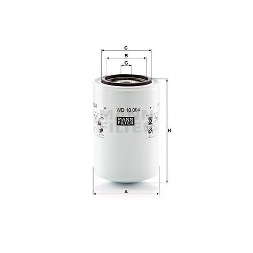 Filter Arbeitshydraulik Mann-filter WD 10 004 für Volvo